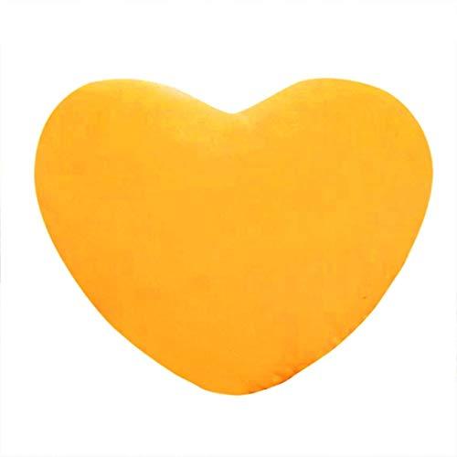 Almohada de felpa encantadora almohada cojín sofá poliéster almohada conjunto-amarillo