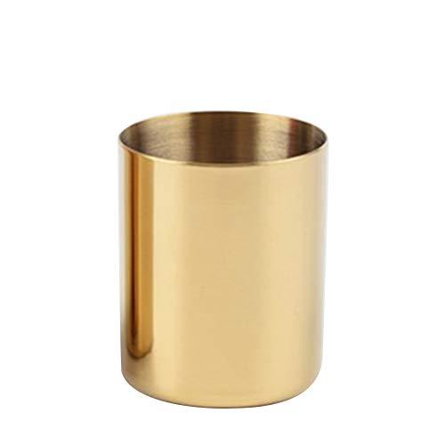 Cratone Stiftehalter Gold Make-up Pinsel Halter Blume Vase Desktop Storage Container für Haus Büro 10 * 8cm gold
