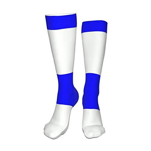 Decams Calcetines unisex de muslo alto, con bandera de Uruguay, calcetines largos, botas altas, calentadores de pierna alta, calcetines deportivos
