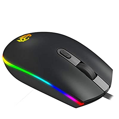 Lurrose Wired Gaming Mouse Computer Game Mouse with Lights Computer Accessories Gifts for Men Women Office Desktop Laptops PC Gaming Supplies