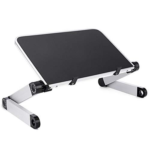 Fransande - Soporte de mesa plegable para ordenador portátil, soporte ergonómico, para cama, altura regulable, ángulo de escritorio, sofá, oficina, color negro