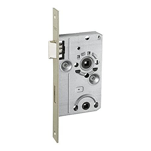 ABUS 61768 ES WC R S 55 78 24 - Cerradura empotrable para puerta de caravana, color plateado