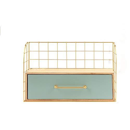 Kcakek Cosmetische opslag Rack de muur bevestigde Iron Desktop Storage Box kaptafel Rack Cosmetische Creative Storage Box Layered Cosmetische Storage Box Cosmetische Storage In badkamer en slaapkamer