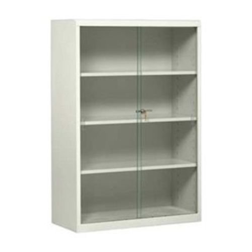 Steel And Glass Book Case With Sliding Doors A Modern Bookcase Option