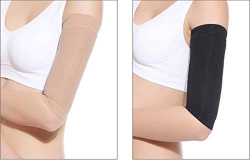 YiyiLai 680D Damen Sommer Slim Fit Arm Schütze Elastisch Kompression Ärmel Armstulpen (1 Paar) Hautfarbe - 4