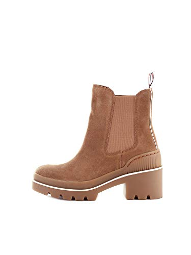 Tommy Hilfiger Sporty Chunky Chelsea Bootie, Botines Mujer, Marrón (Tobacco Brown 203), 37 EU