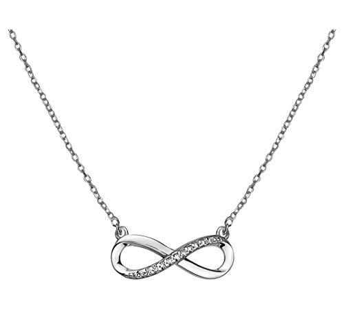 SOFIA MILANI - Damen Halskette 925 Silber - mit Zirkonia Steinen - Unendlich Infinity Anhänger - 50273