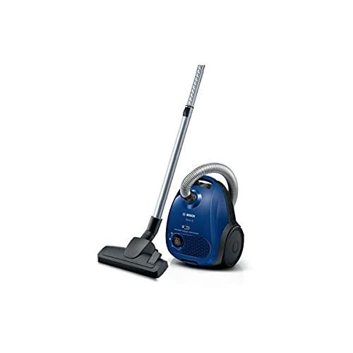 Bosch BGN2CLAS Staubsauger mit Beutel, 600 W, Easy Control, HiSpin Motor, Hygiene-Filtersystem, blau