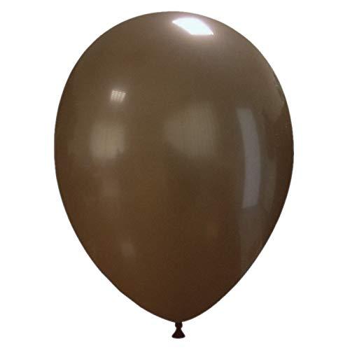 Event Kauf 25-1000 STK. Luftballons Metallic / Standard, Ø ca. 27 cm, Helium (25 Stück, Standard Nr.66: Braun)