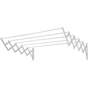 100 cm Tender Fil Tendedero Extensible Blanco Metal