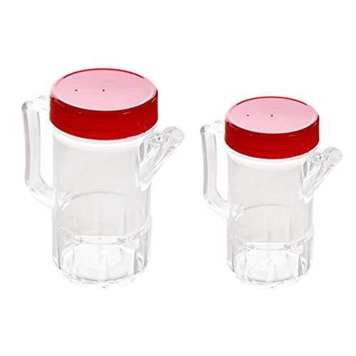 Bonarty 2pcs Botellas De Acrílico Vinagrera De