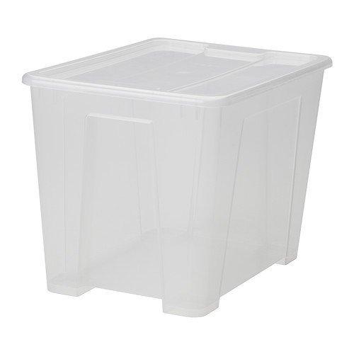 Ikea Samla - Caja con tapa para almacenimiento (22 litros)