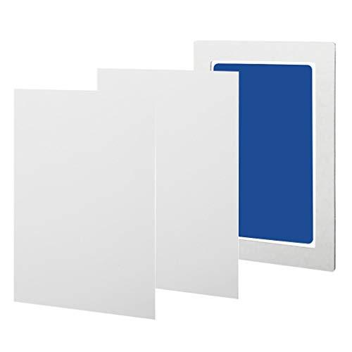 VIccoo Almohadilla de Tinta 1 Juego de Almohadillas de Tinta para Huellas de Manos y Huellas para bebés, Kits de Tinta para Huellas de Patas para bebés y Mascotas - Cielo Azul