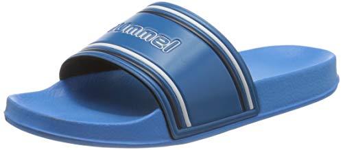 Hummel Unisex-Erwachsene Pool Slide Retro 206575 Dusch- und Badeschuhe, Blau (Blue Aster 8378), 39 EU