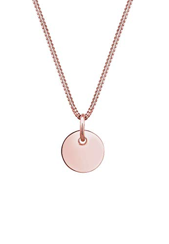 Elli Geo Basic 925 Silver Curb Chain Necklace