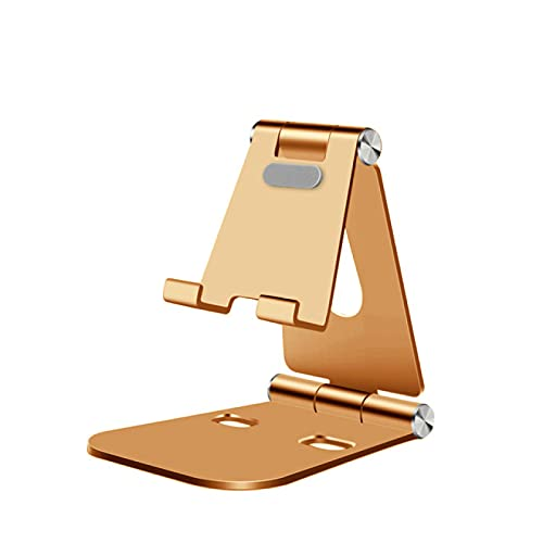 SOTUISA Adjustable Aluminum Stand for Mobile Phone Tablet Foldable Portable Desk Holder for Smartphone iPhone Samsung iPad (Multi Color)