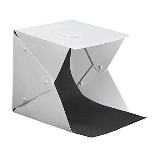 IPOTCH Foto Estudio Caja de luz 30cm portátil Plegable Profesional Cabina Mesa...