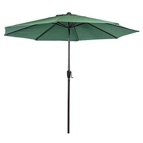 Sundale Outdoor 10FT Patio Umbrella Table Umbrella Market Umbrella with Aluminum Pole & Auto Tilt, Polyester Canopy Shade for Patio, Garden, Deck, Backyard, Pool, Dark Green