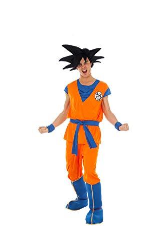 Disfraz de Hombre Dragon Ball Z Goku Anime Movie Figura Carnaval Personaje de Dibujos Animados (M)