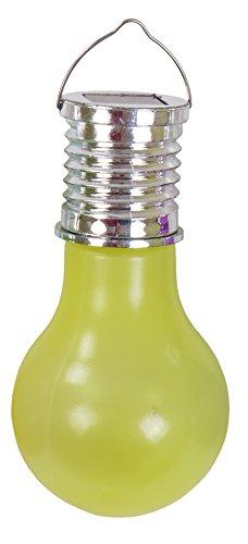 Alma Garden Lámpara LED de plástico para jardín, lámpara solar para fiestas, color: amarillo