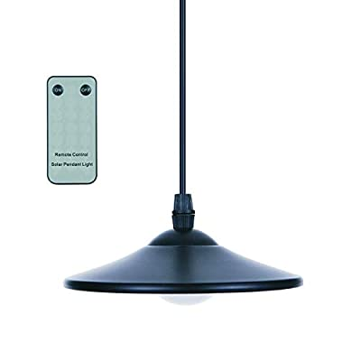 Tomshine 3W Solar Powered Pendant Light Outdoor Hanging Lamp 4 LED Shed Lights 250lm Pendant Lamp with Remote Control for Kitchen Garden Yard Patio Balcony Home Landscape