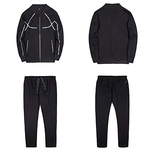 MTENG Tracksuit Men Full Zip Warm Sweatsuits Sports Set Casual Running Jogging Outfit Athletic Outwear Suit
