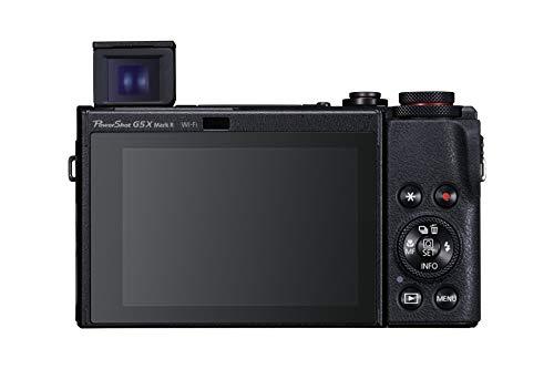 Canon PowerShot G5 X Mark II Digitalkamera (20,1 MP, 5-fach optischer Zoom, 7,5cm (3 Zoll) Display, klappbar, DIGIC 8, EVF, 4K, Full-HD, WLAN, Bluetooth, Blendenautomatik; Zeitautomatik), schwarz