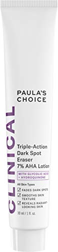 Paula's Choice CLINICAL Triple-Action Dark Spot Eraser 7% AHA Lotion, Glycolic Acid & Hydroquinone, Hyperpigmentation & Skin Lightening Cream, 1 Ounce