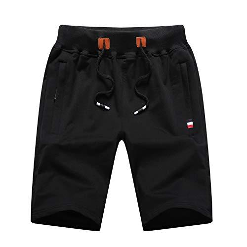 Pantalones Cortos de Verano para Hombre, Entrenamiento Deportivo, Pantalones de Entrenamiento para Correr de Ajuste Regular, Moda, Ropa de Calle Hipster Fresca L