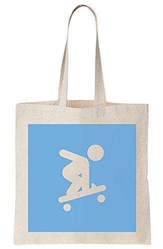 graphke Skating Stickman Canvas Tote Bag