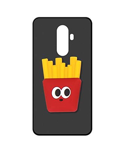 Sunrive Kompatibel mit DOOGEE BL12000 Hülle Silikon, Ständer Fingerhalter Fingerhalterung Handyhülle matt Schutzhülle Etui Hülle (Pommes Frites) MEHRWEG