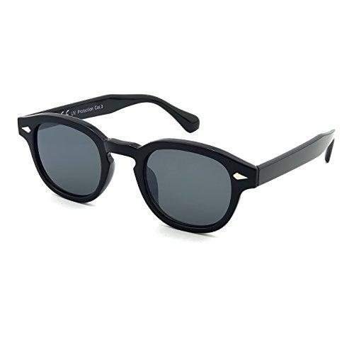 KISS Gafas de sol estilo MOSCOT mod. DEPP ICONIC - Johnny Depp hombre mujer VINTAGE unisex - NEGRO