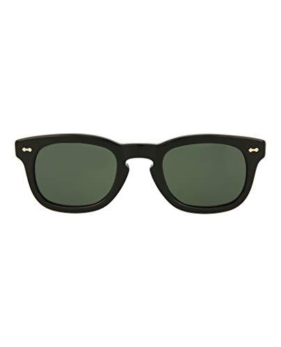 Gucci GG0182S 002 Gafas de sol, Negro (2/Green), 49 Unisex Adulto