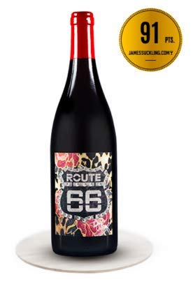 Route66 Wein Pinot Noir IGT Red Wine - Tony Moore Signature Selection - Organically Cultivated Hand Harvested Grapes - Award Winning