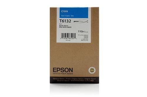 Original Epson C13T613200 / T6132 Tinte (cyan, Inhalt 110 ml) für Stylus Pro 4400, 4450