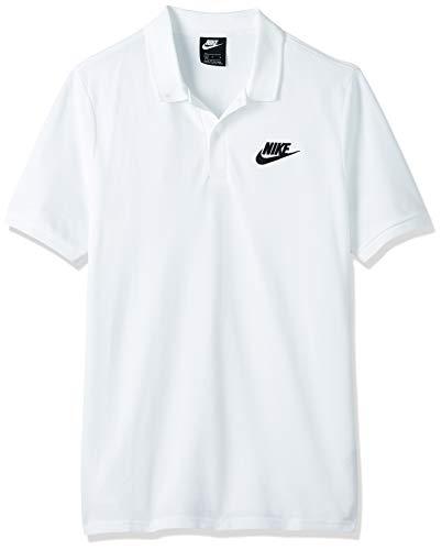Nike M NSW CE Polo Matchup PQ Polo, Uomo, White/Black, L