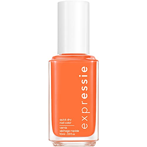 essie expressie Quick-Dry Vegan Nail Polish, Strong At 1 percent, Spiced Coral, 0.33 Ounce
