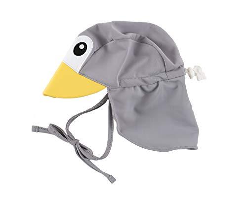 Cuddle Club Baby Erstausstattung Verstellbarer Sonnenhut für Babys und Kinder | LSF 50+ Ganztägiger UV-Schutz für Kopf und Nacken - SunhatPenguinGreyL