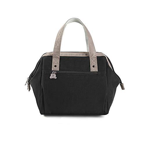 Sebasti Fiambrera bolso de mano con aislamiento de lámina de aluminio grueso, bolsa de almuerzo con bolsa de viaje, bolsa de mano para trabajadores de oficina, bolsa de almuerzo A1