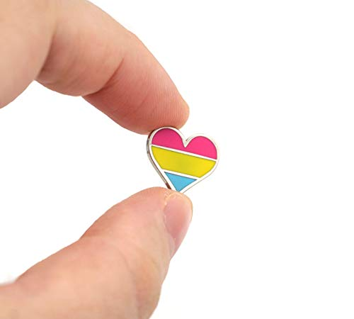 Compoco Tiny Pansexul Pride Pin Heart Flag an Enamel Pin Decoration for Clothes and Bags