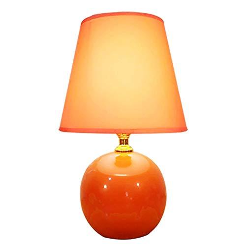 Moderne tischlampe, mini orange led keramik globus tischlampe, schlafzimmer tischlampe, studie schreibtisch beleuchtung tischlampe schnittstelle e27