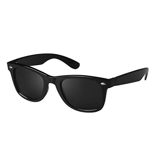 CHEREEKI Polarisierte Sonnenbrille Klassisch Retro UV400 Schutz Brille für Herren Damen (Grau)