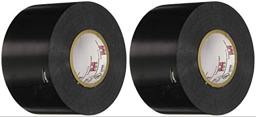 (Pack of 2) Morris Products 60202, 8.5 Mil Commercial Grade Vinyl Electrical Tape 2 Inch X 66 Feet, All Weather Commercial Splicing Tape For Primary Insulation And Protective Jacket For Higher Voltage
