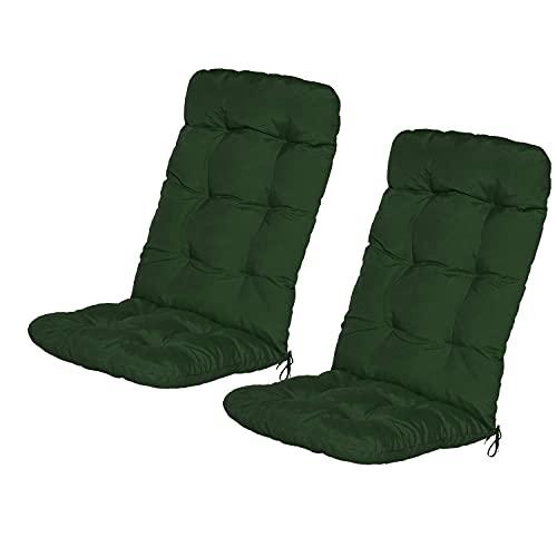 Bravo Home - Cojín para silla con respaldo de 50 x 50 cm, cojín de asiento, cojín de respaldo bajo, cojín para silla de jardín, silla o tumbona, jardín, terraza o balcón