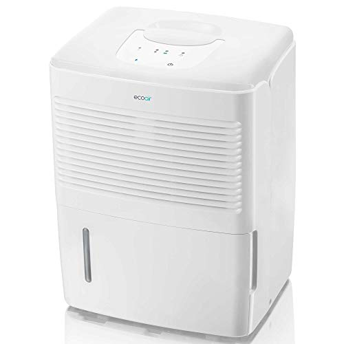 EcoAir Vebo Dehumidifier | 10L per day | Control Damp & Condensation | Laundry Mode | Digital Control Panel | Continuous Drainage | 2 Year Warranty, white