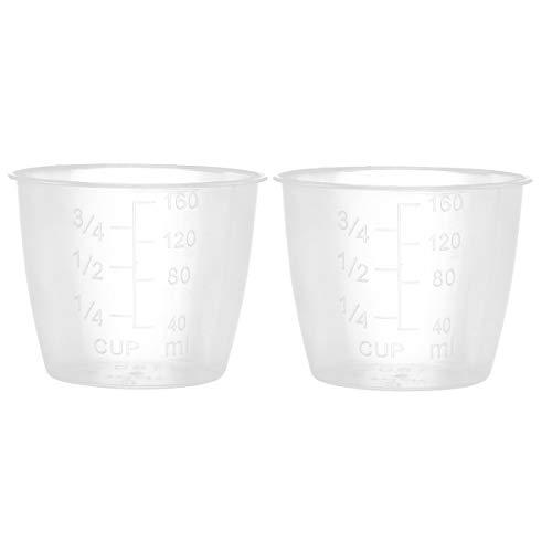 Agoky Reis Messbecher Durchsichtig aus Kunststoff elektrischer Reiskocher Ersatzteile Cups Küchen mit Standard- und metrischen Abmessungen 2er Set One Size