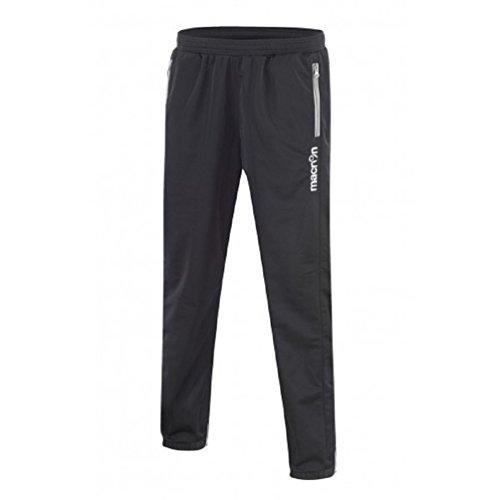Pantalone Tuta Da Ginnastica Uomo con Fondo Stretto Caviglia e Tasche con Zip Macron Horus Pant, Colore: Nero/Bianco, Taglia: M