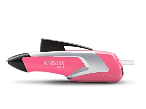 Steinel Akku-Heißklebestift Neo1 pink, Heißklebe-Pistole, 3 Klebesticks 7mm, kabellos, 3.6 V Akku,...