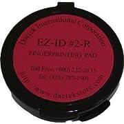 """Fingerprint Pad 2"""" Diameter, Red"""