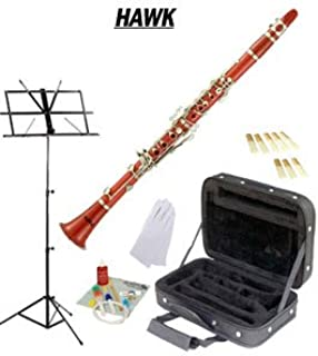 Hawk Red Bb Clarinet Package with Case Reeds Music Stand & Cleaning Kit WD-C213-RD-PACK